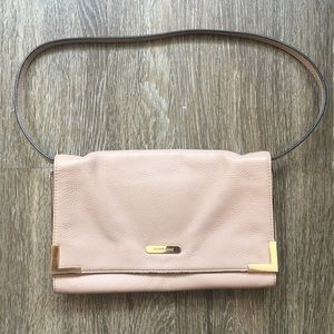 Michael Kors blush leather shoulder bag